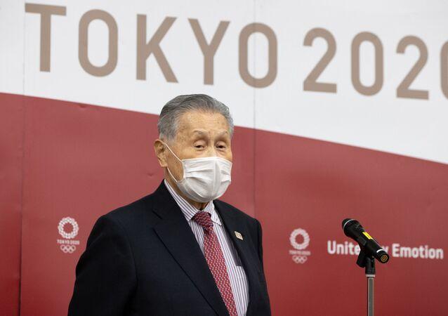 Yoshiro Mori, presidente do Comitê Organizador dos Jogos Tóquio 2020