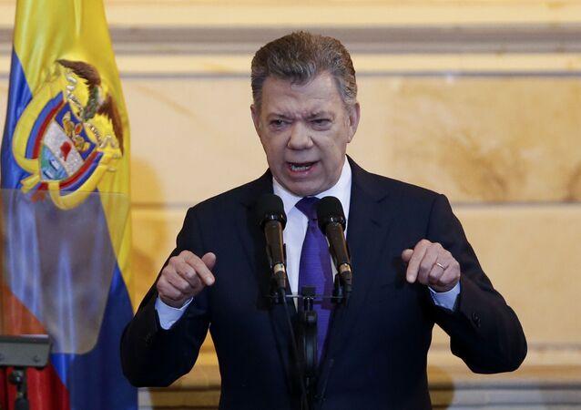 Ex-presidente da Colômbia Juan Manuel Santos