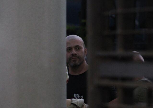 O deputado federal Daniel Silveira (PSL-RJ), no Batalhão da Polícia Militar do Rio de Janeiro, no dia 18 de fevereiro de 2021