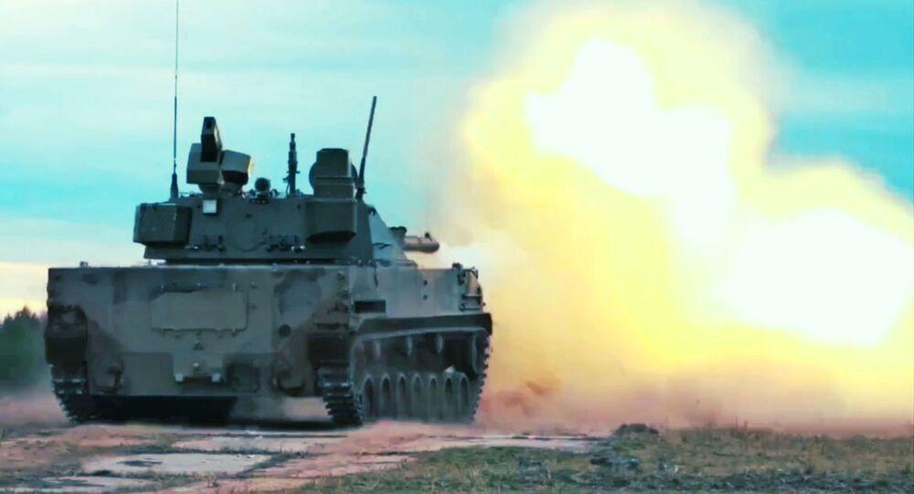 Tanque anfíbio russo Sprut-SDM1