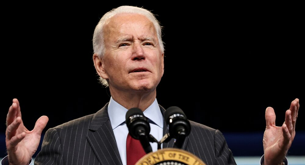 Presidente dos EUA, Joe Biden, discursa na Casa Branca, Washington, EUA, 22 de fevereiro de 2021