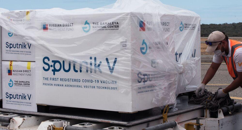 Remessa da vacina russa contra o coronavírus Sputnik V na Venezuela (foto de arquivo)