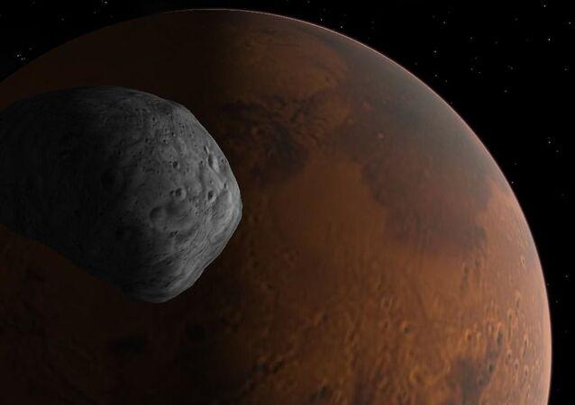 Amanhecer em Fobos e Marte