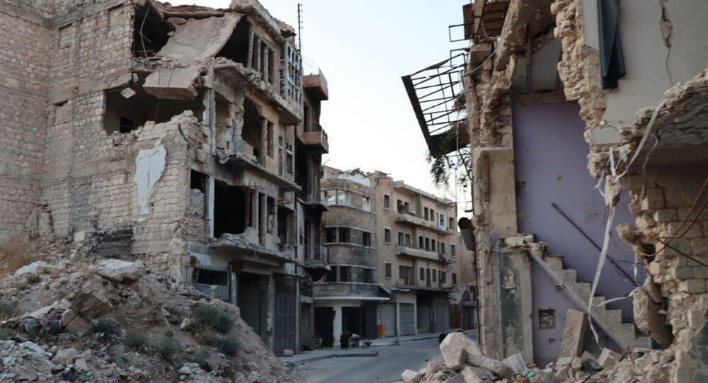 Uma rua em Aleppo, Síria, foto divulgada em 21 de janeiro de 2021