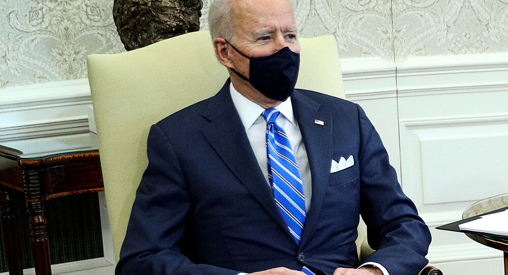 Joe Biden, presidente dos EUA, realiza reunião na Casa Branca em Washington, EUA, 4 de março de 2021