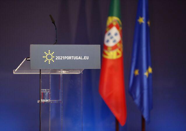 Bandeira Portugal na União Europeia