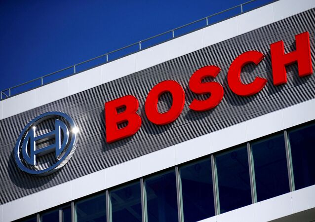 Logo da empresa Robert Bosch no centro de pesquisa e desenvolvimento em Renningen, Alemanha, 30 de setembro de 2015 (foto de arquivo)