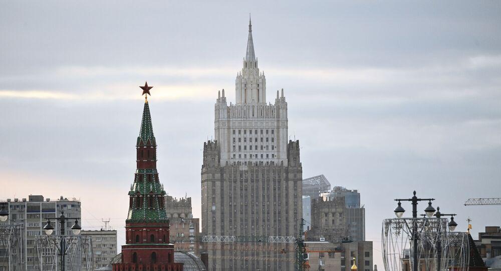 Prédio do Ministério das Relações Exteriores da Rússia, em Moscou