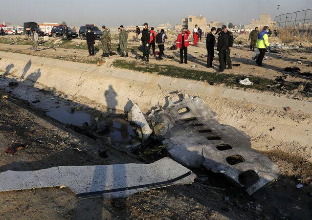 Avião ucraniano abatido em Teerã 8 de janeiro de 2020
