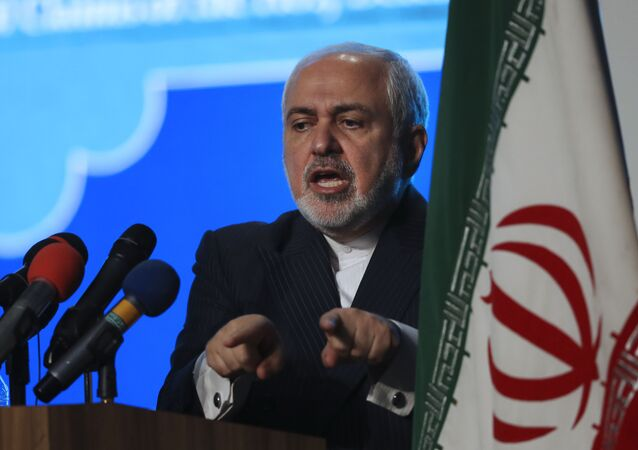 Mohammad Javad Zarif, ministro das Relações Exteriores do Irã, discursa em coletiva de imprensa em Teerã, Irã, 23 de fevereiro de 2021