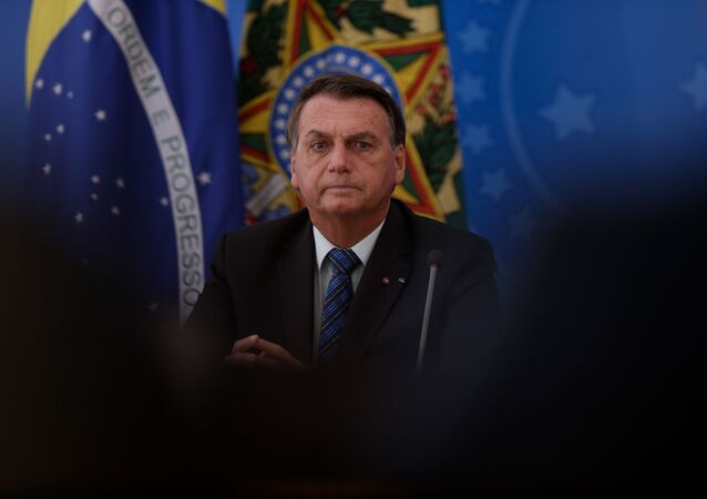 O presidente Jair Bolsonaro durante evento no Palácio do Planalto no dia 5 de fevereiro de 2021