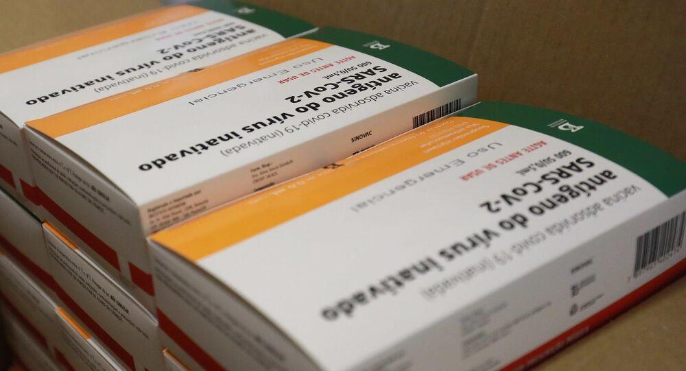 Doses da vacina CoronaVac, em Porto Alegre, no dia 1º de fevereiro de 2021