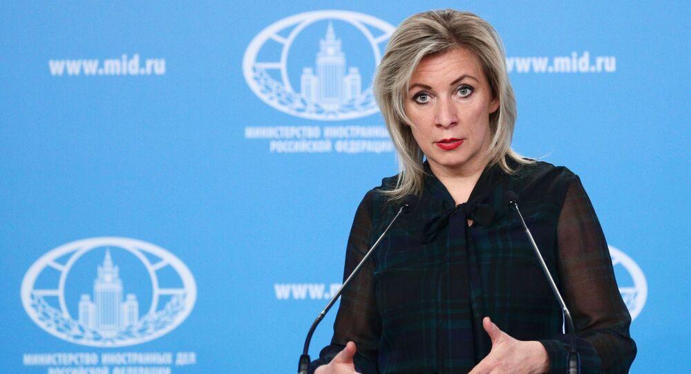 Entrevista coletiva da representante oficial do Ministério das Relações Exteriores da Rússia