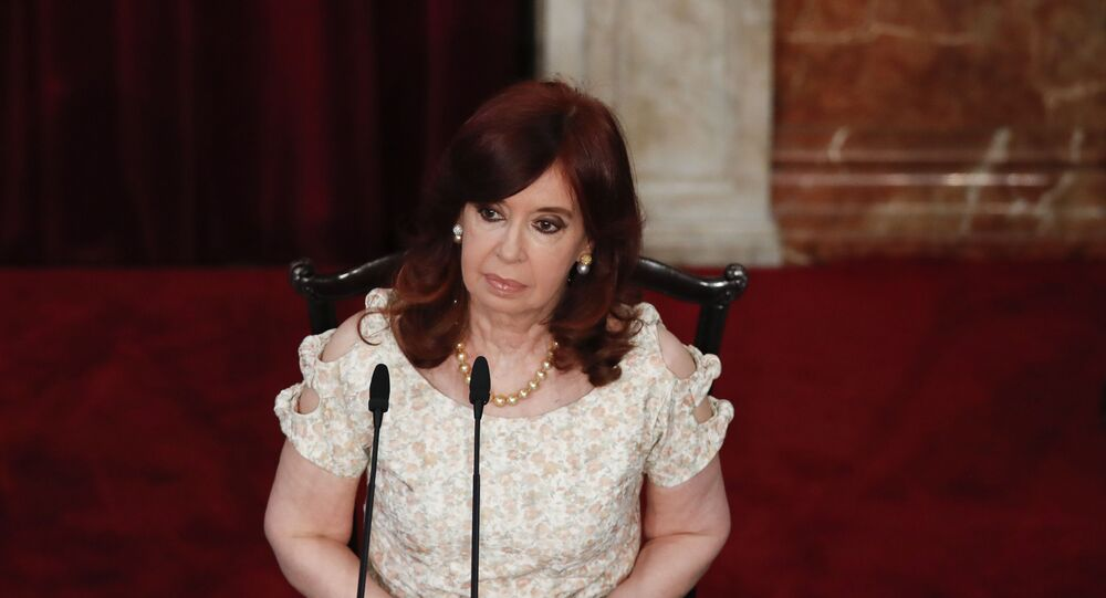 Vice-presidente Cristina Fernandez de Kirchner participa da sessão de abertura do Congresso em 1º de março de 2021