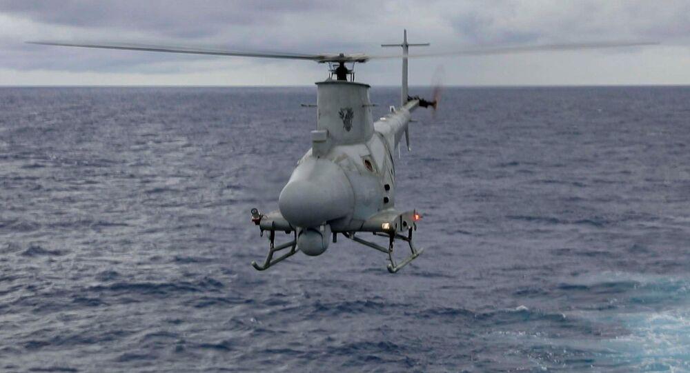 Helicóptero drone MQ-8B Firescout da Marinha dos EUA