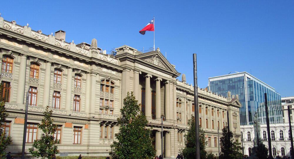 Edifício dos Tribunais de Justiça do Chile, em Santiago, em 5 de julho de 2017