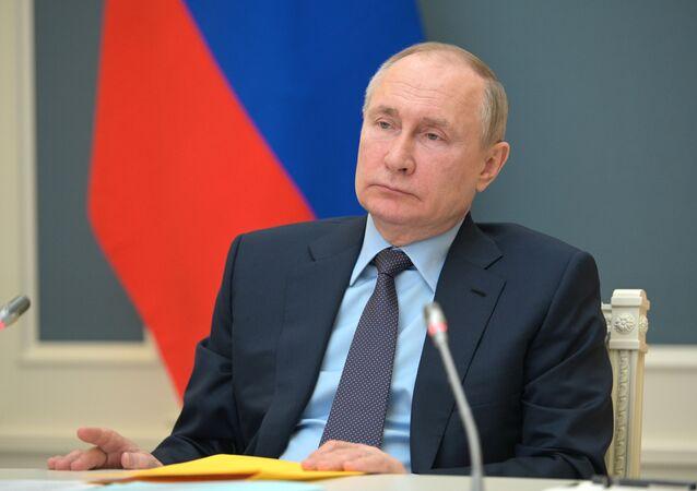 Presidente da Rússia, Vladimir Putin, 14 de abril de 2021