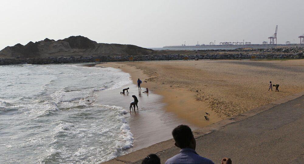 Cidade portuária de Colombo, Sri Lanka (foto de arquivo)