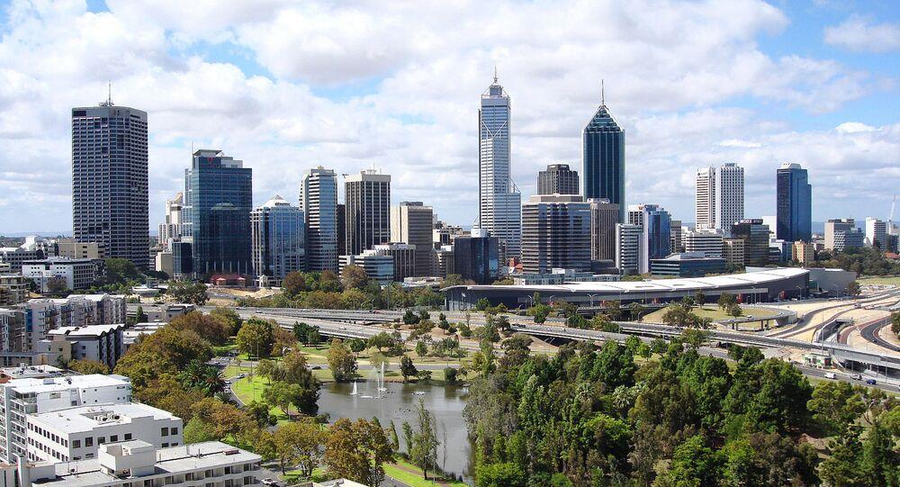 Cidade de Perth, estado de Austrália Ocidental, na Austrália.