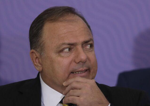 O general Eduardo Pazuello, em foto de 16 de dezembro de 2020, em Brasília, quando estava no comando do Ministério da Saúde