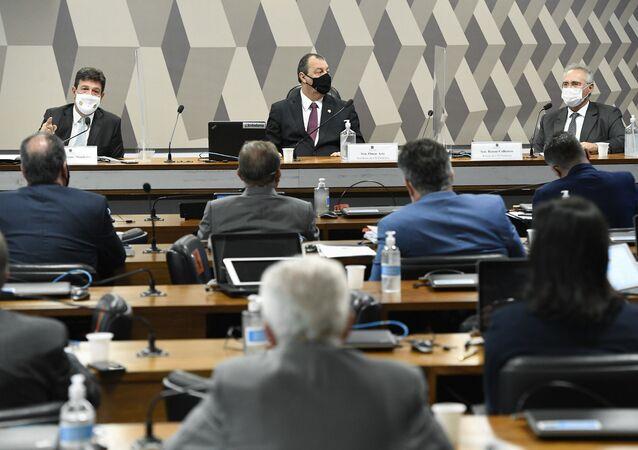 Comissão Parlamentar de Inquérito (CPI) da Covid realiza oitiva do ex-ministro da Saúde Luiz Henrique Mandetta