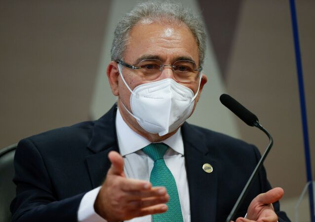 Ministro da Saúde, Marcelo Queiroga, durante depoimento à CPI da Covid no Senado Federal, Brasília, 6 de maio de 2021