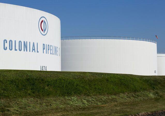 Reservatórios da empresa Colonial Pipeline em Woodbridge, Nova Jersey, EUA, data desconhecida