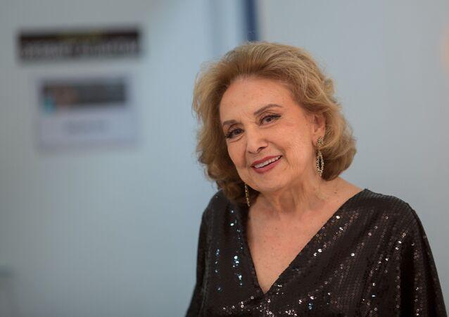 A atriz Eva Wilma em foto tirada em 2 de novembro de 2017, na cidade de São Paulo (SP)