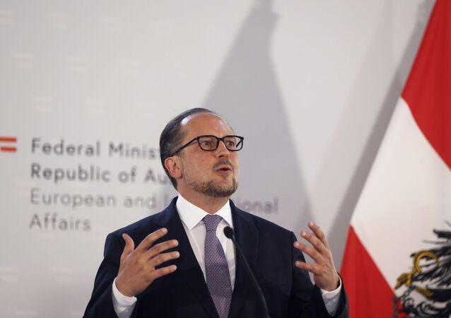 Alexander Schallenberg, o ministro de Relações Exteriores da Áustria, agosto de 2020