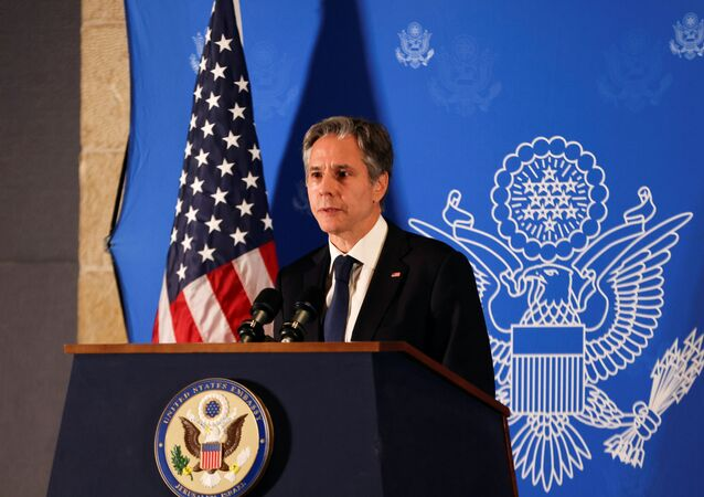Secretário de Estado dos EUA, Antony Blinken, participa de coletiva de imprensa em Jerusalém