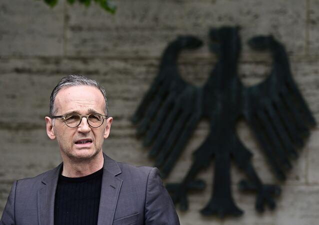 O ministro das Relações Exteriores da Alemanha, Heiko Maas, durante entrevista coletiva, reconheceu que o país cometeu genocídio na Alemanha