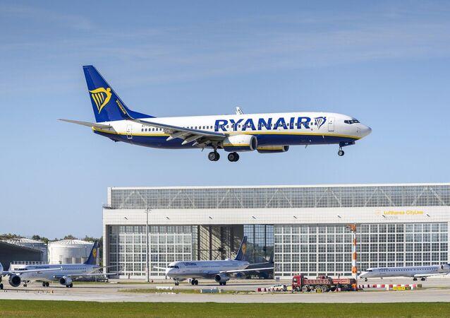 Avião da companhia aérea irlandesa, Ryanair (imagem referencial)