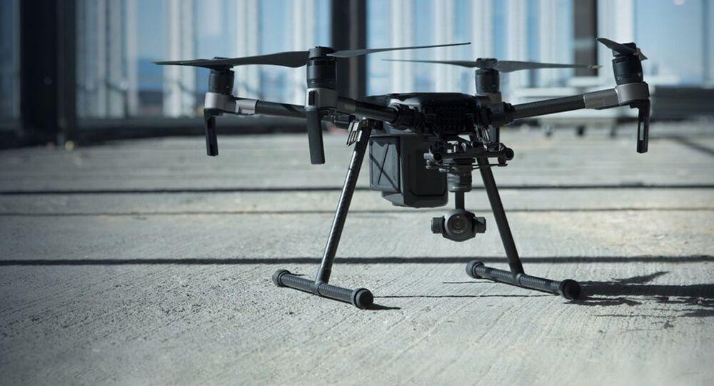 Drone chinês da empresa DJI modelo Matrice 200
