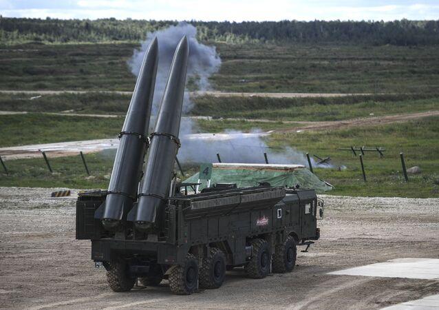 Sistema de mísseis tático-operacional Iskander-M (foto de arquivo)