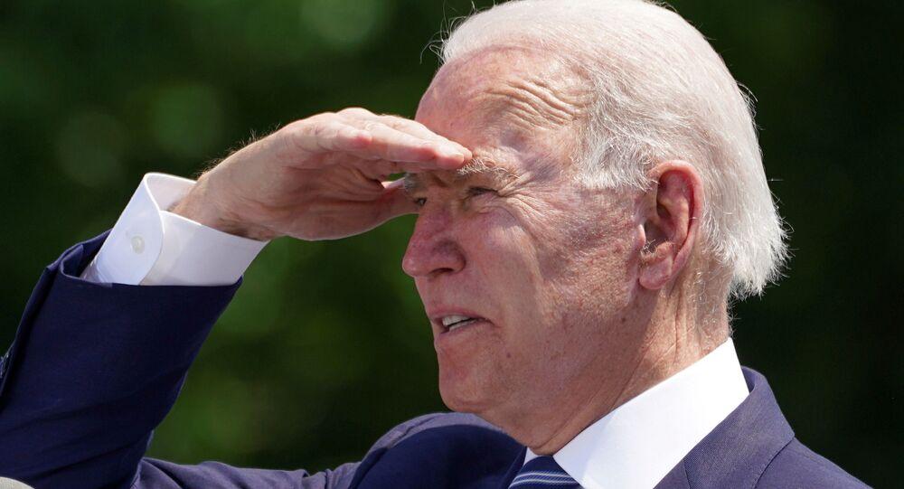O presidente dos EUA, Joe Biden, em New London, Connecticut, nos EUA, no dia 19 de maio de 2021
