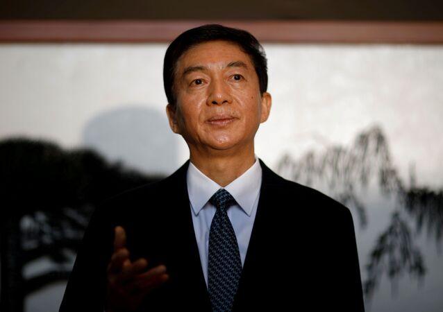 Luo Huining, diretor do Escritório de Ligação de Hong Kong da China, em 6 de janeiro de 2020