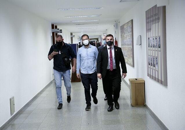 Irmãos Miranda chegam para depor na CPI da Covid, Brasília, 25 de junho de 2021