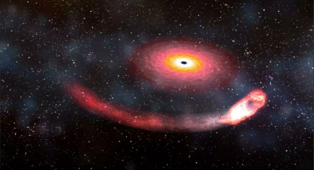 Buraco negro devora uma estrela de nêutrons
