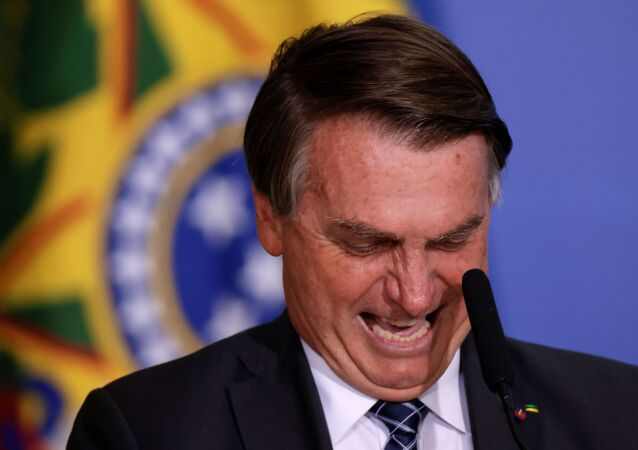 O Presidente Jair Bolsonaro fala durante a cerimônia de lançamento do Plano Safra 2020/2021, um plano de ação para o setor agrícola, em Brasília, Brasil, dia 22 de junho de 2021