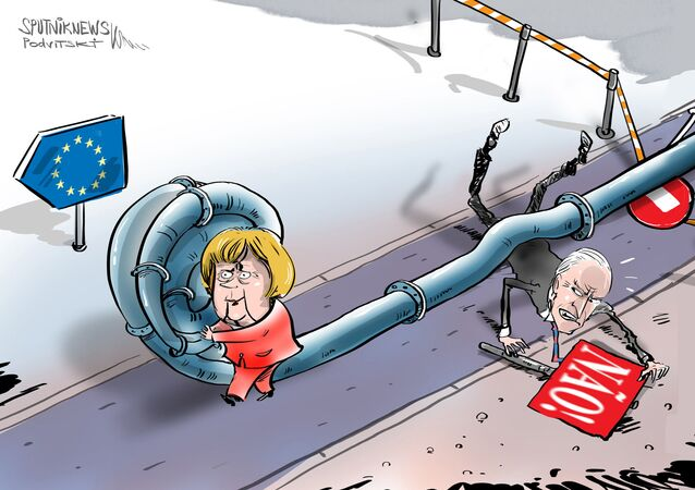 Biden e Merkel, Nord Stream