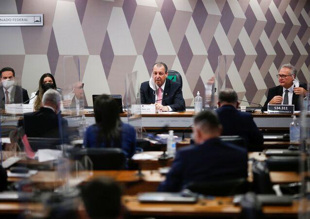 Reunião da CPI da Covid no Senado Federal em Brasília, 13 de julho de 2021