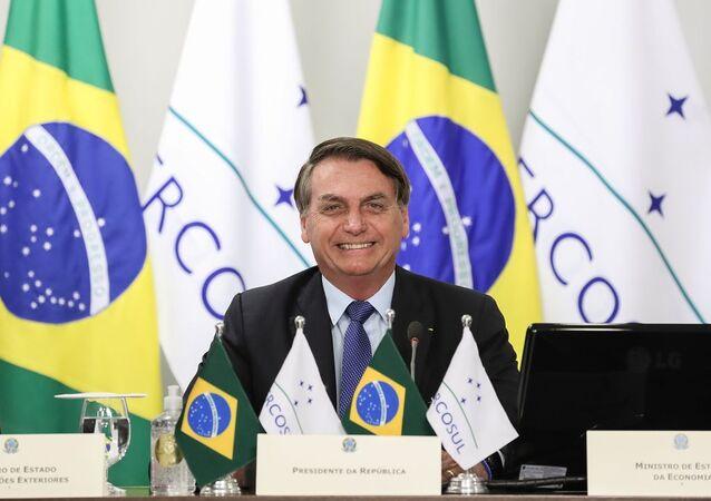 O presidente da República, Jair Bolsonaro, participa da LVI Cúpula de chefes de Estado do Mercosul e Estados Associados (videoconferência).