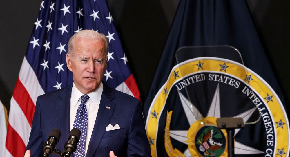 Presidente dos EUA, Joe Biden, visita o Gabinete do Diretor de Inteligência Nacional, em McLean, Virgínia , Estados Unidos. 27 de julho de 2021