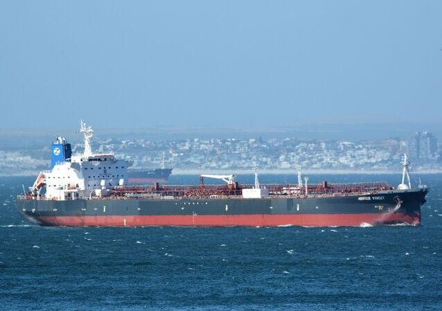 Mercer Street, navio-tanque de bandeira liberiana administrado pela israelense Zodiac Maritime que foi atacado na costa de Omã. Foto de arquivo