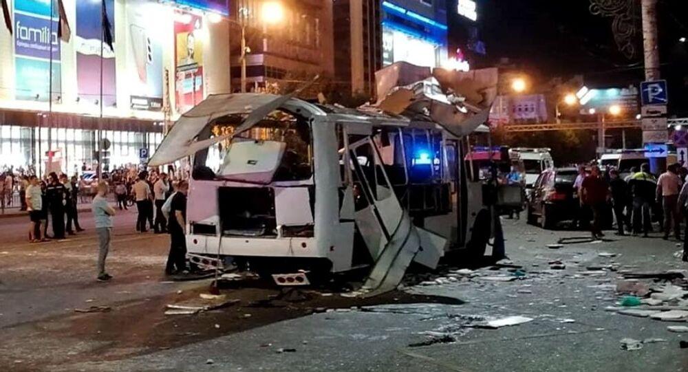 Explosão em ônibus na Rússia