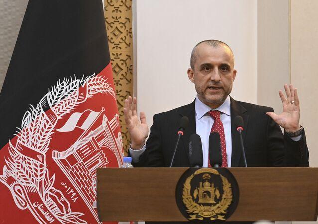 Vice-presidente do Afeganistão, Amrullah Saleh. Foto de arquivo