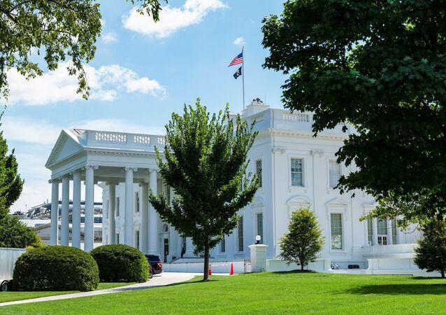Exterior da Casa Branca em Washington, EUA, 19 de agosto de 2021