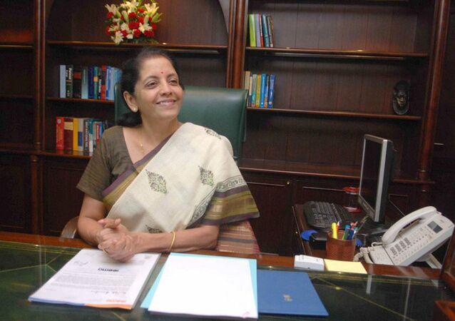 Ministra das Finanças da Índia, Nirmala Sitharaman