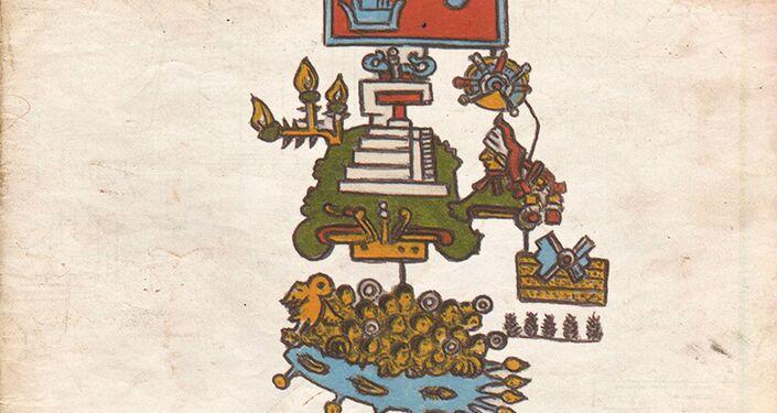 Página do Codex Telleriano-Remensis que, segundo um novo estudo, representa um grande terremoto ocorrido em 1507 no sul do México