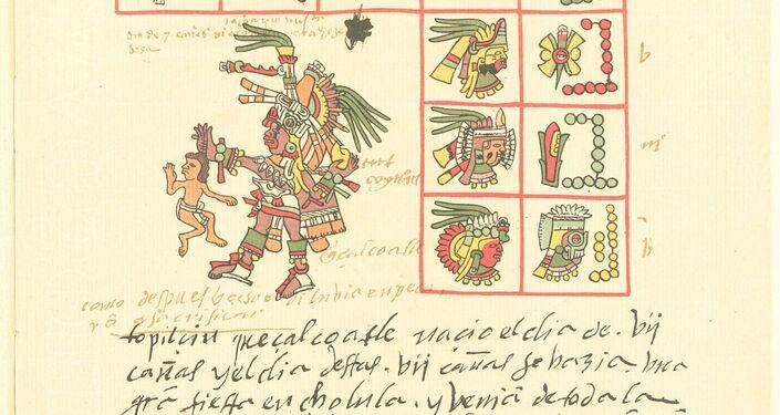 Fragmentos da página do Codex Telleriano-Remensis